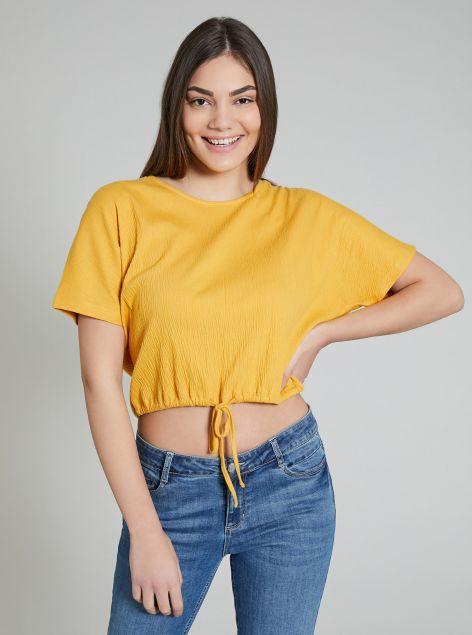 T-shirt in tessuto crèpe