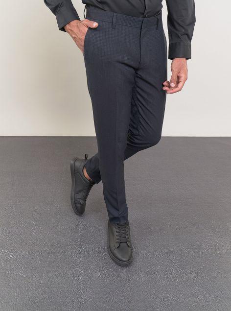 Pantalone classico a microquadri