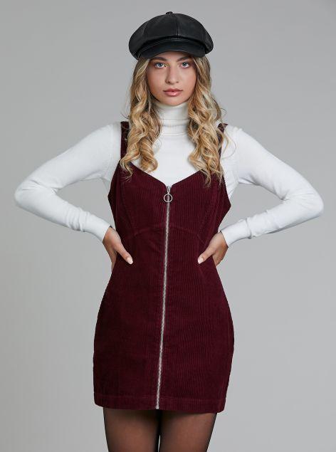 Vestito con zip centrale