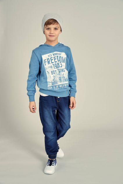 Jeans jogger con lacci