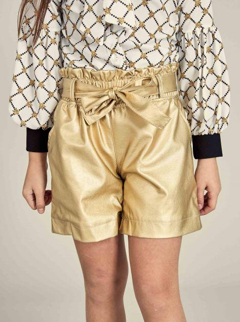 Shorts effetto metallizzato
