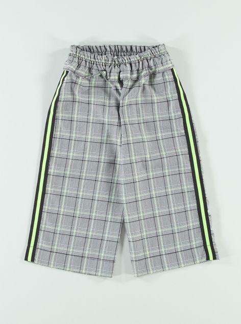 Pantaloni palazzo con bande laterali