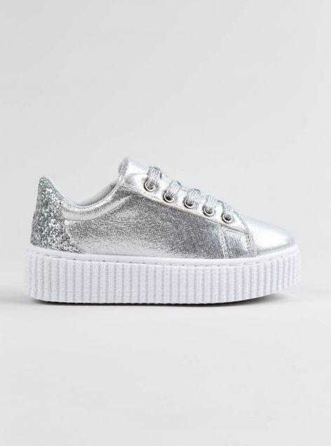 Sneakers effetto metallizzato