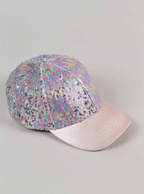 Cappello con paillettes