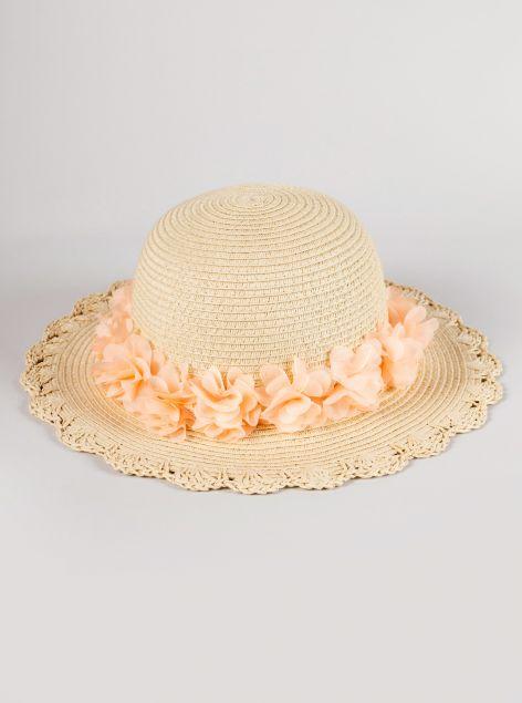 Cappello applicazioni floreali