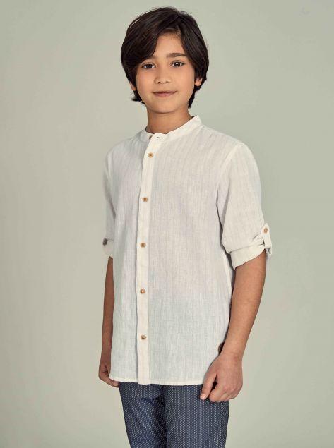 Camicia Lino e Cotone
