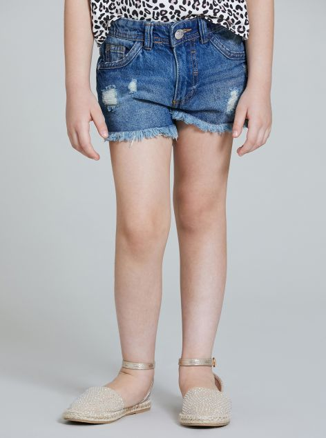 Shorts denim con strappi
