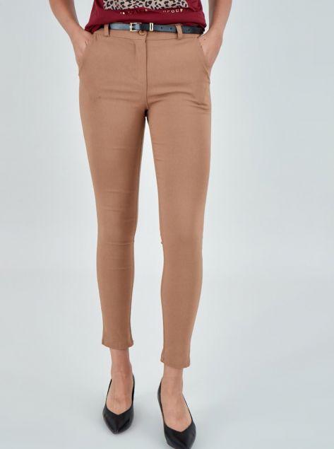 Pantaloni sigaretta con cintura