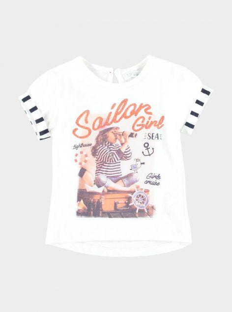 T-Shirt stampa glitterata