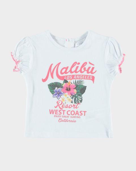 T-Shirt Malibù con arricciatura sulle maniche