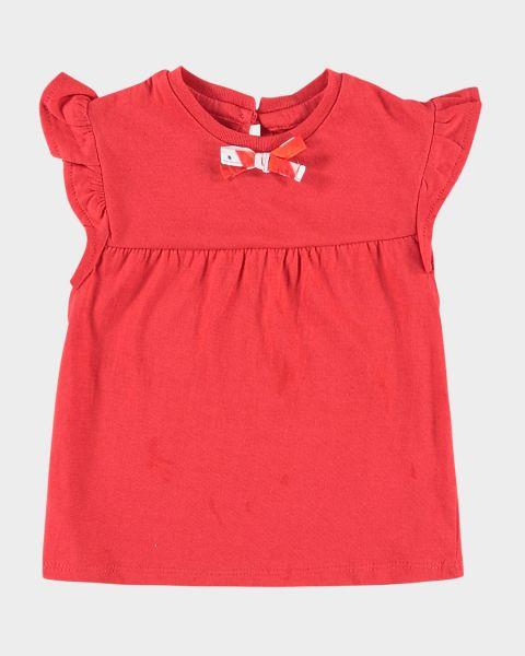 T-Shirt Red a maniche con volant