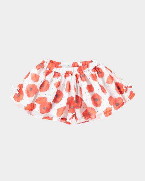Shorts a balze con stampa a fiori
