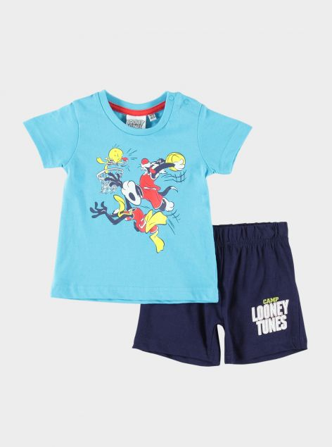Completo 2pz stampe Looney Tunes