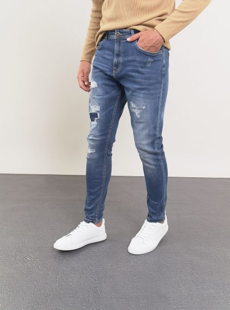 Jeans Slim-fit strappato