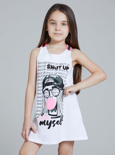 Vestito giromanica da bambina