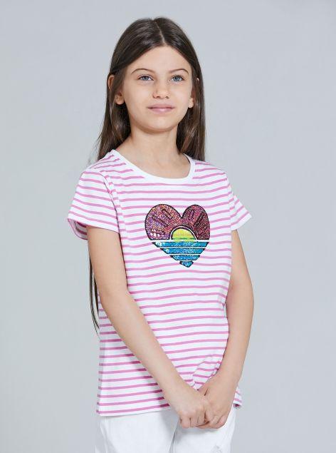 T-Shirt a righe da bambina