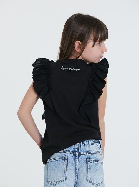 T-Shirt manica a farfalla