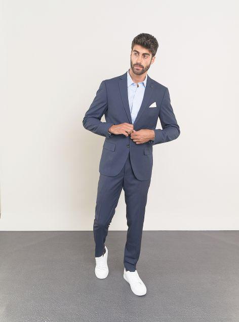 Giacca modello classico con pochette