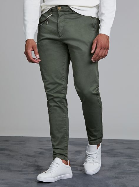 Pantaloni Regular-fit con catena