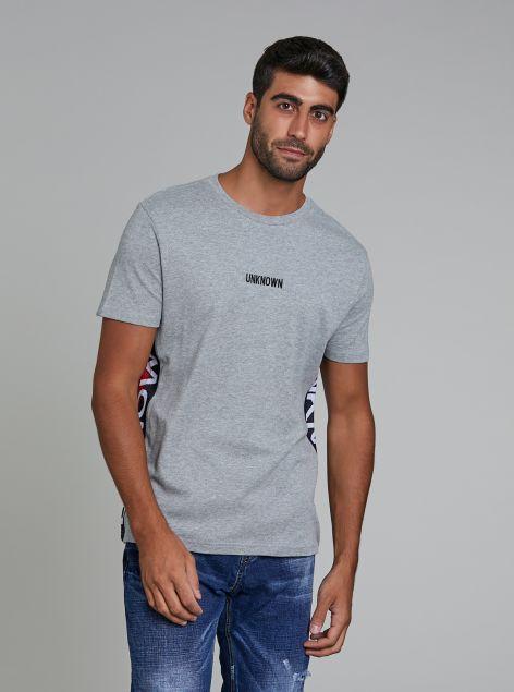 T-Shirt con bande laterali