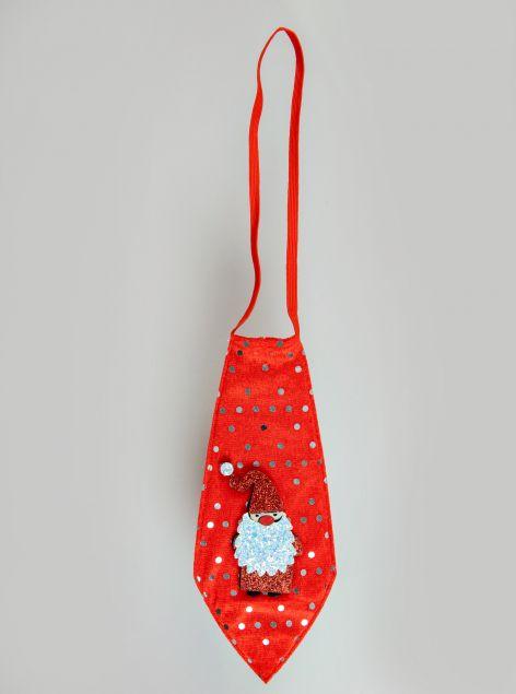 Cravatta con elastico natalizia