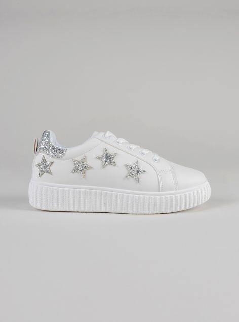 Sneakers con dettagli brillantinati