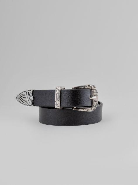 Cintura con applicazioni in metallo