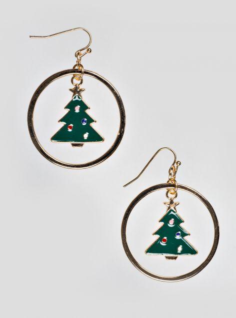 Orecchini albero di Natale