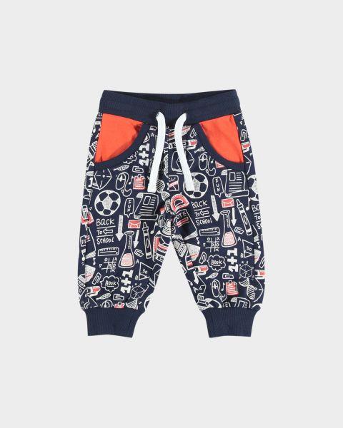 Pantaloni con elastico in cotone
