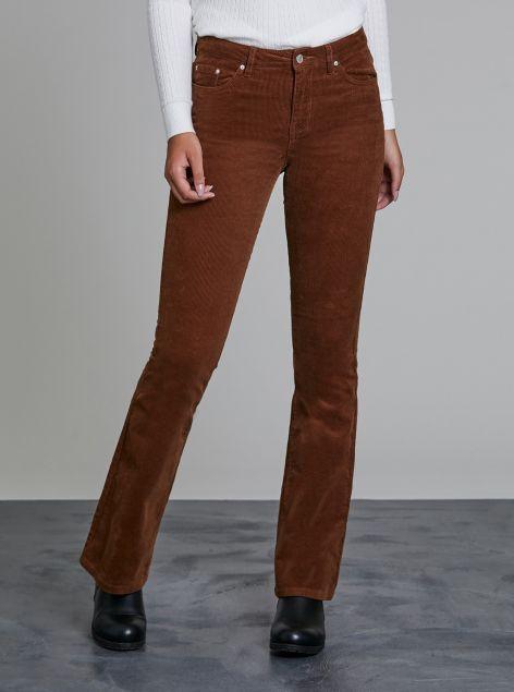 Pantaloni bootcut velluto