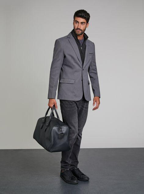 Giacca cappotto con gilet interno