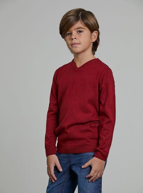 Pullover scollo a V