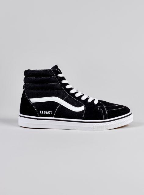 Sneakers alta in tela