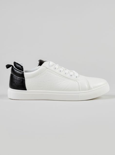 Sneakers tallone a contrasto