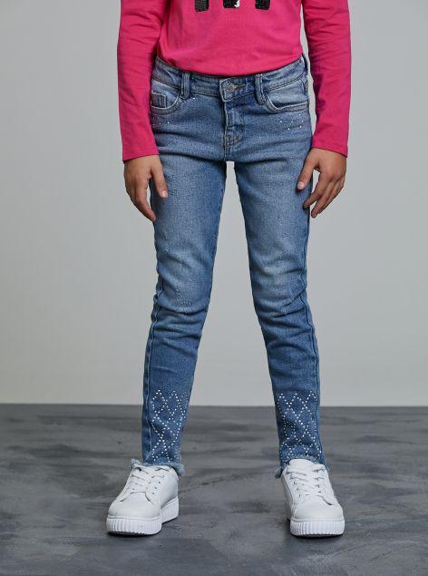 Jeans skinny con applicazioni