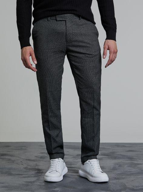 Pantaloni classici stampa check