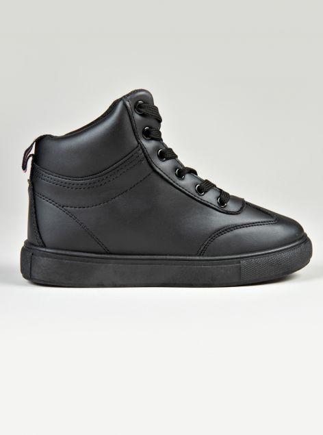 Sneakers alta con lacci