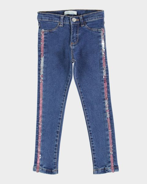 Jeans skinny con bande