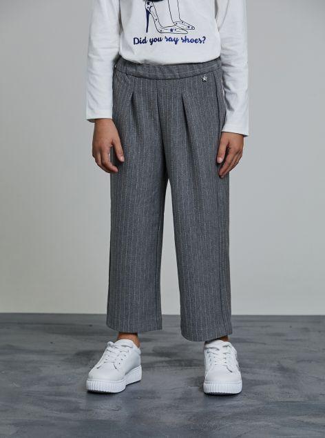 Pantaloni culotte gessati