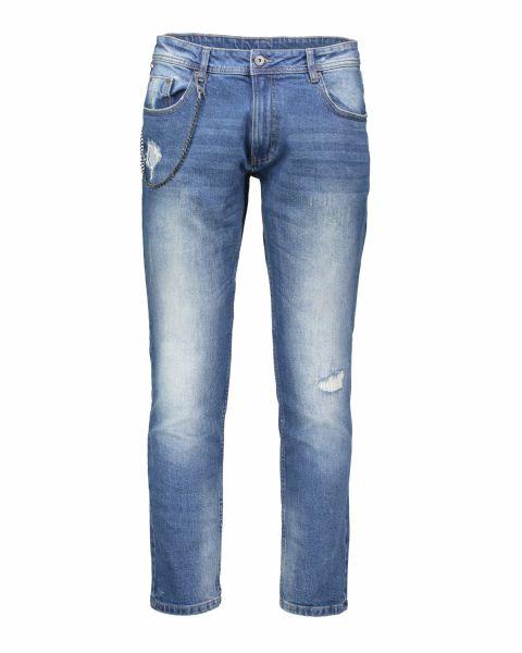 Jeans con catena e strappi