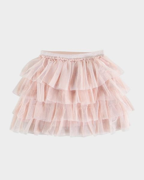 Gonna in tulle a balze