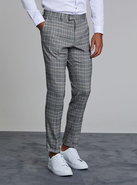 Pantaloni check