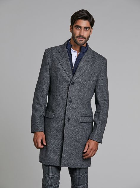 Cappotto uomo con gilet