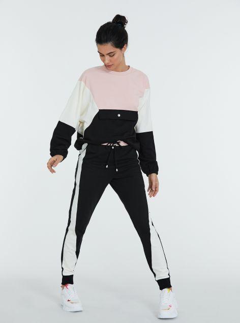 Panta-fitness con banda laterale