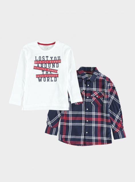 Set T-Shirt + Camicia