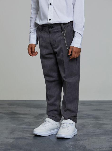 Pantaloni classici con catena