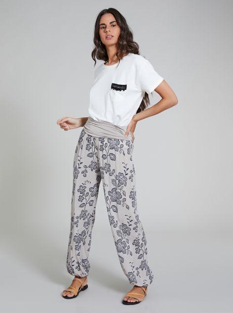 Pantaloni con fascia elastica