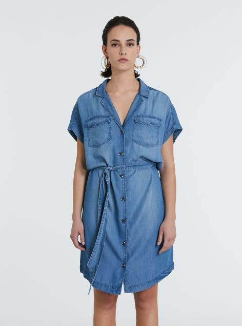 Vestito in denim lyocell