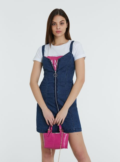 Vestito salopette in denim