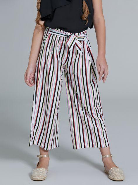 Pantalone culotte con cintura
